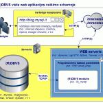 (R)DBVS vieta web progamos veikimo schemoje